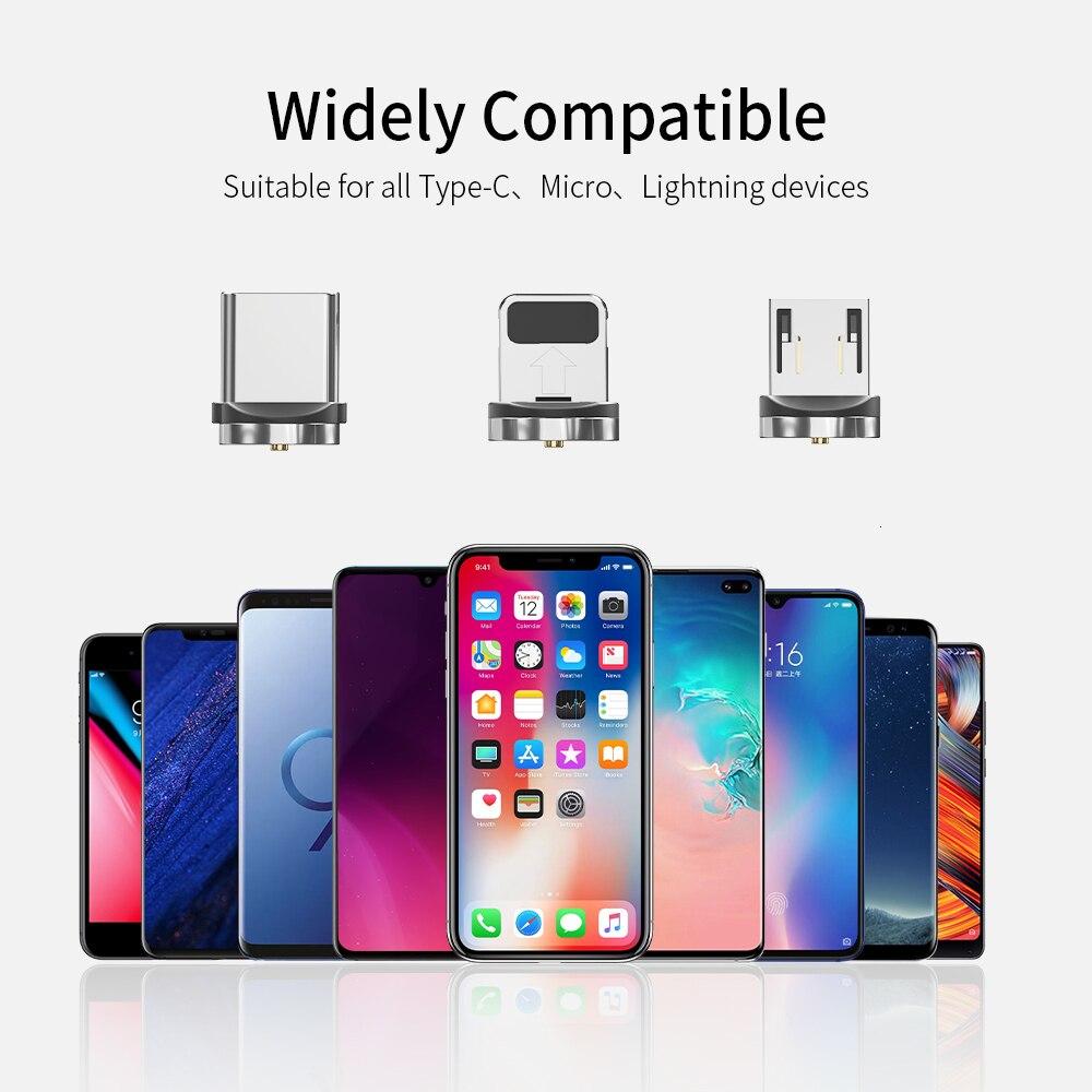Магнитный Micro USB кабель Essager для iPhone samsung, кабель для быстрой зарядки и передачи данных, Магнитный зарядный кабель usb type-C для мобильного телефона