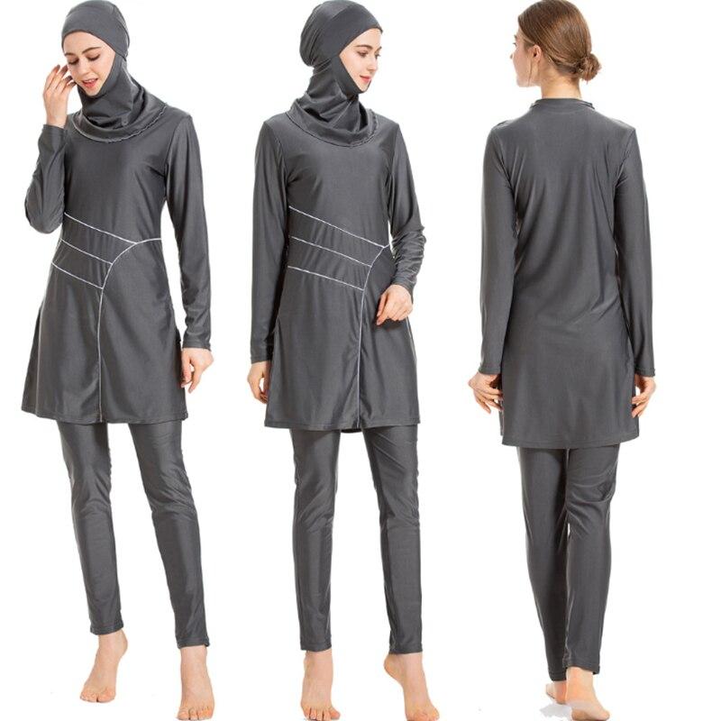 Taobo 2020 Donne Burkinis Islam 2 Pezzo Costume Da Bagno Islamico Modest Abbigliamento Spiaggia Per Musulmani Copertura Completa A Maniche Lunghe Hijab Stampa Beachwear Costume Da Bagno Per Musulmani Aliexpress