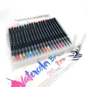 Image 4 - 20 Kleuren Schilderen Zachte Borstel Pen Aquarel Marker Pen Premium Art Markers Voor Coloring Kalligrafie Manga Manga Comic