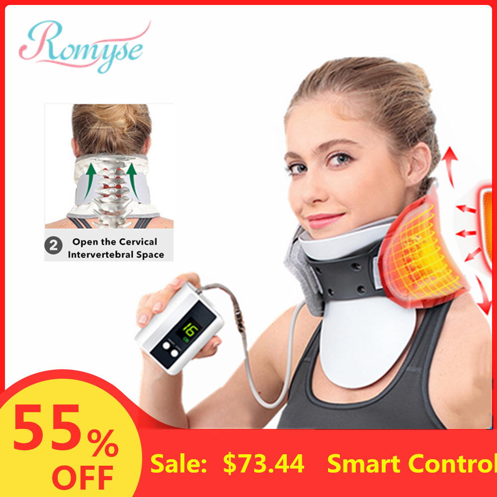 Smart Control Air Cervical Traction Neck Device Spine Massager Health Care Medical Support  Inflatable Neck Collar