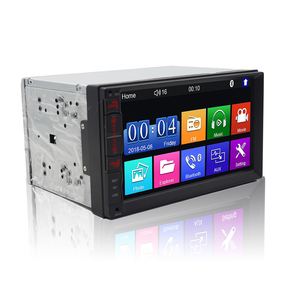 Universal 2 Din HD 7  Touch Screen MP4/MP5 Car Radio Player Car Multimedia Player Radio BT USB FM Android/ios Mirror Link image