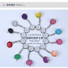Круглые смайлик часы для медсестры силикон медсестра часы милые кварцевые часы