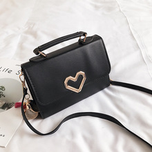 Fashion Designer Leather Shoulder Bag Cute Heart Handbags Women Bags Flap Crossbody Small Totes Messenger Purse