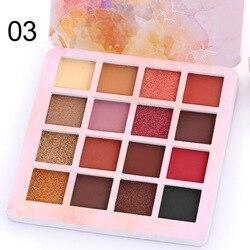 Матовые блестящие тени для век CmaaDu, водостойкие 16 цветов, пигментированные дымчатые тени для век, Палетка теплых цветов TSLM1