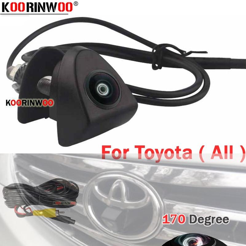 Koorinwoo LOGO Camera Car Front Camera 180 Wide Angle For Toyota Corolla Highlander Camry Prado C-HR Fortuner Willanda Parking