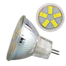 1 pçs/lote MR11 de vidro LEVOU lâmpada 12V 3W 6W GU4 10W SMD COB LEVOU Lâmpada Dimmable substituir Holofotes de Halogéneo Lustre Frete grátis