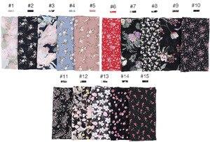 Image 2 - 115cm Printe chiffon Platz hijab schal chiffon wraps blume schals muslimischen leichte stirnband wraps islamischen schals 10 teile/los