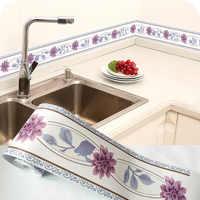 3D Floral Tapete Grenze DIY Self-adhesive Wasserdichte Wand Grenzen Wohnzimmer Küche Bad Home Dekoration Wand Aufkleber