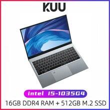 KUU X15 10-е поколение Intel Core i5-1035G4 15,6 дюймов ноутбук 16 ГБ RAM 512 ГБ SSD Windows 10 с подсветкой клавиатура Type-C WiFi игры офис