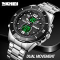Часы наручные SKMEI мужские с электронным механизмом, люксовые модные деловые брендовые, с обратным отсчётом времени на 3 часа в подарок