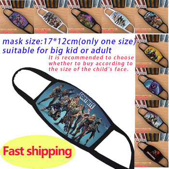 Kid Adult Mask Fortnites Mouth Mask Cartoon Anime Game Reusable Breathable Washable Face Mask Anti Pollution Fabric Dust Mask