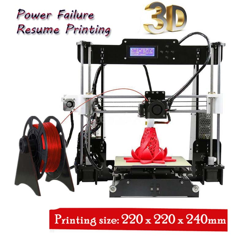 3d-Printer Prusa I3 Drucker Power-Failure-Printing Reprap W5 DIY A8 MK8 Resume Imprimante title=
