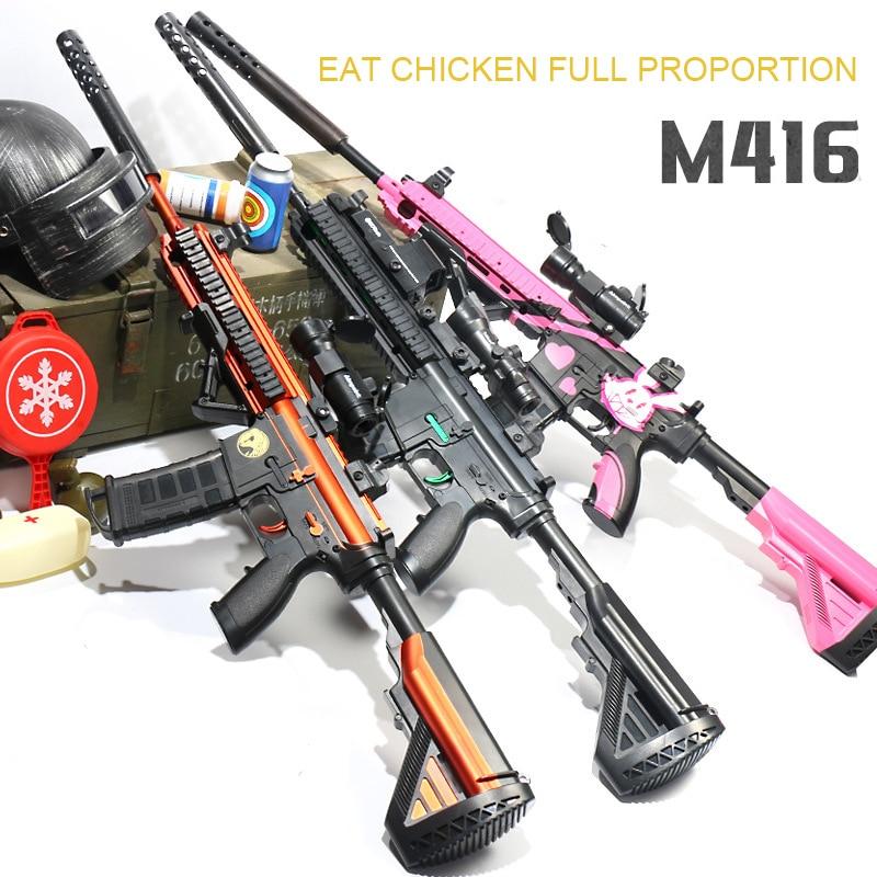 M416/M4A1 jouet électrique pistolet ensemble CS assaut Sniper fusil arme eau douce bombe sécurité extérieur jouet batterie n'est pas inclus
