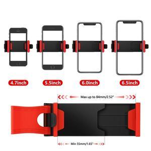 Image 2 - ABS + elastyczna guma samochodów KIEROWNICA uchwyt na telefon komórkowy uniwersalny uchwyt na podstawka pod telefon samochodowy uchwyt do nawigacji wsparcie smartfon voiture