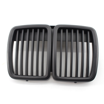 2Pcs Matte Black Front Bumper Hood Kidney Grille Racing Grille Abs Material Car Front Grill for BMW 3-Series E30 M40 1982-1994 image