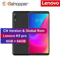 """ROM globale Lenovo K5 Pro 4 GB 64 GB ZUI 4G LTE 5.99 """"pouces téléphone Mobile Snapdragon octa-core 16MP double caméra avant arrière empreinte digitale"""