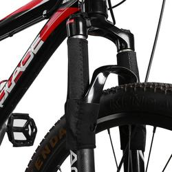 Черная велосипедная Рама, 1 пара, защита цепи, Велоспорт, горный велосипед, передняя вилка, защита, защитный чехол