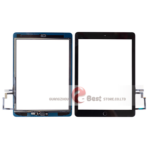 Image 2 - 2017 A1822 A1823 Touch Screen For iPad 5th Generation 5 Digitizer  Front Glass With home button +cable+Tools+Tempered Glasss