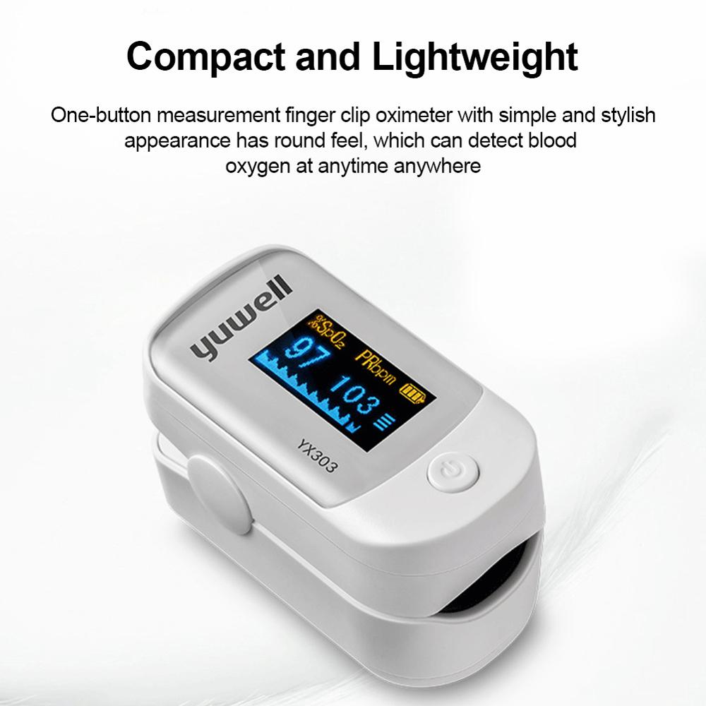 Medical Heart Rate Monitoring Fingertip Pulse Oximeter with OLED Display and Auto Shut Down 3