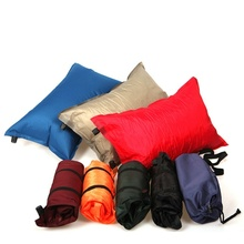 1pc Random Color Outdoor Hiking Automatic Inflatable Pillow Travel Camping Sleeper