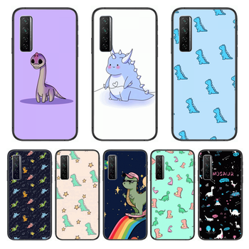 Cute style dinosaur baby Phone Case For Huawei Nova p10 lite 7 6 5 4 3 Pro i p Smart ZBlack Etui 3D Coque Painting Hoesje image