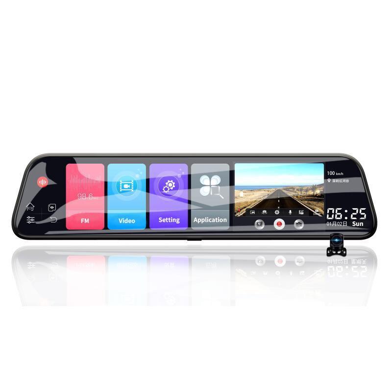 12 pouces Android 8.1 Adas Dash Cam voiture Dvr caméra Gps Navi Bluetooth Fhd enregistreur vidéo 4G Wifi Dvr miroir - 6