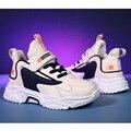 Daclay/детская обувь для мальчиков и девочек; спортивная обувь для бега; баскетбольные теннисные кроссовки; дышащие детские кроссовки с липучк...