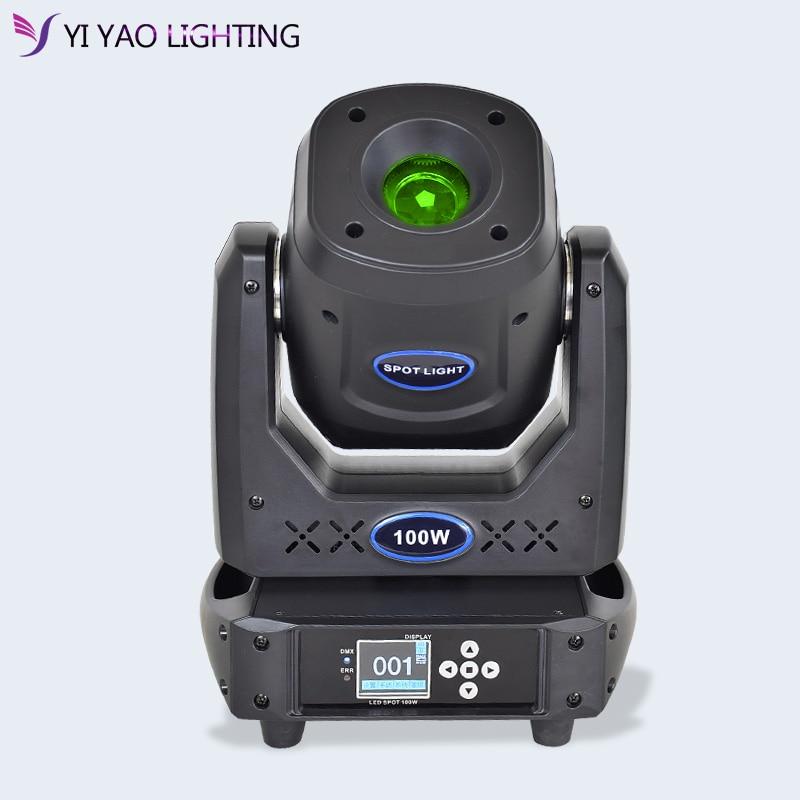 Kecapi LED 100 W DMX Stage Moving Head Beam Spot Light Gobo Rotasi Efek Warna dengan 5 Wajah Prism untuk klub acara, Pesta