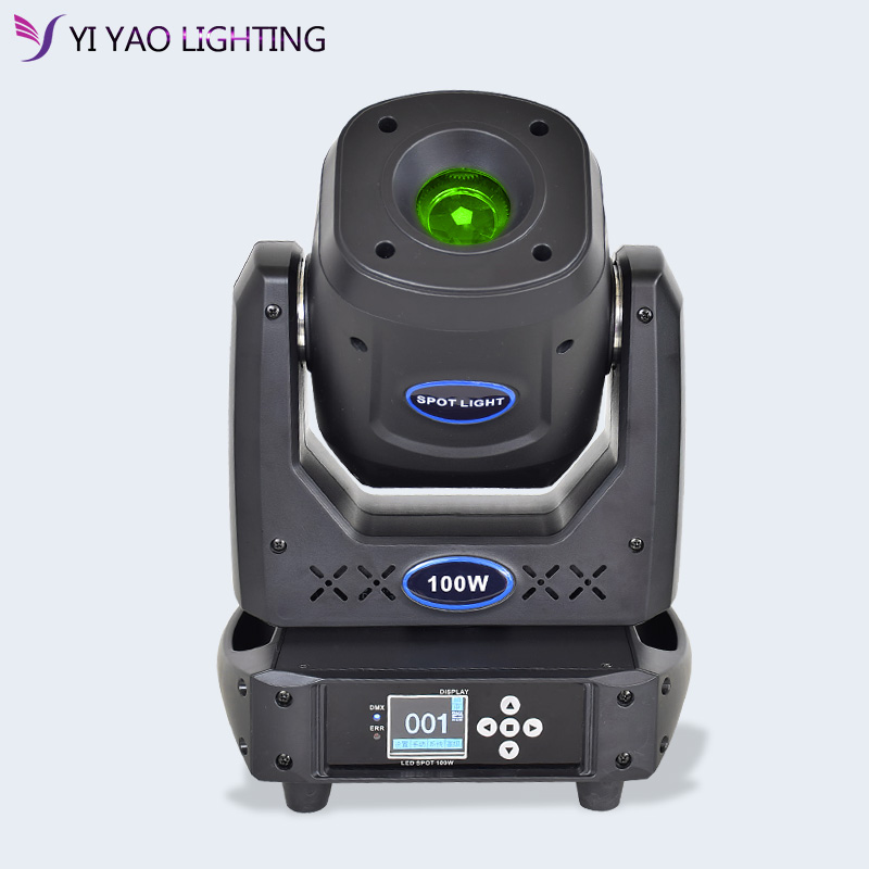 Lyre led 100w DMX 무대 이동 헤드 빔 스포트 라이트 gobo rotation color effect with 5 face prism for club, Show, party