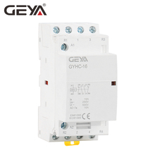 GEYA 4P 16A 20A 25A 4NO or 2NO2NCHousehold Modular AC Contactor DIN Rail Type AC220V Automatic original ac contactor lc1 d25 25a ac220v lc1d25