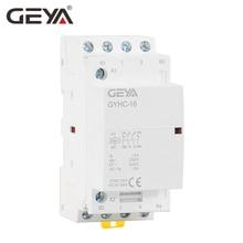 цена на GEYA 4P 16A 20A 25A 4NO or 2NO2NCHousehold Modular AC Contactor DIN Rail Type AC220V Automatic