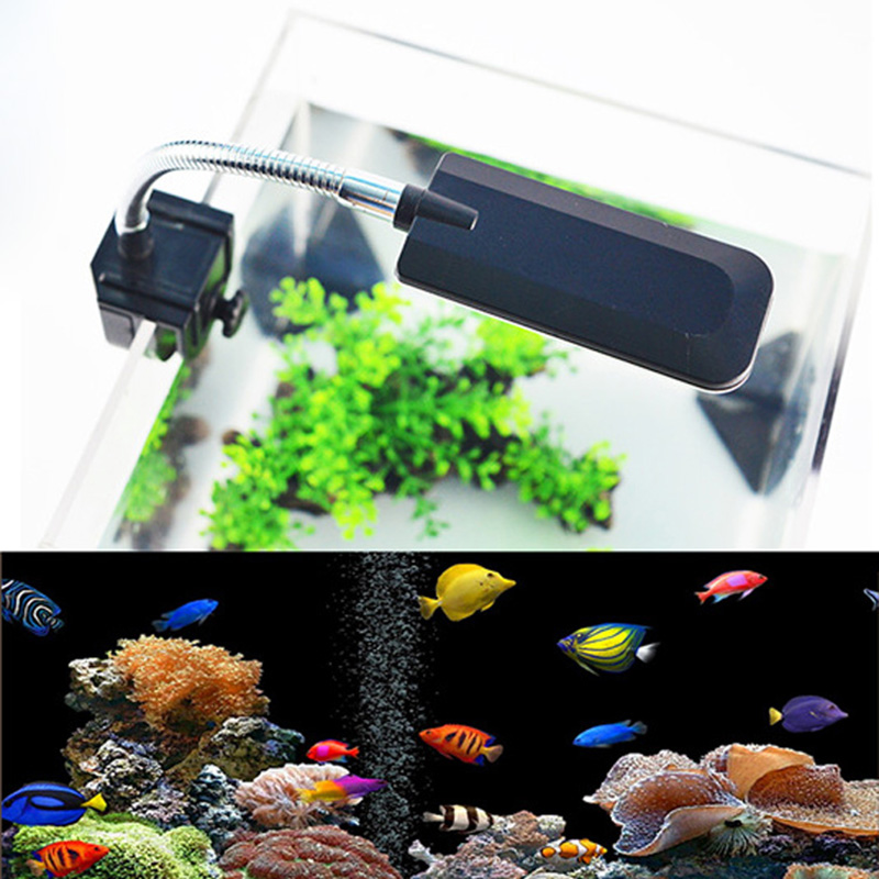 DC12V 48 LED Aquarium Light Fish Tank Lamp with Flexible Clamp White and Blue Color fishbowl Lighting for water plant turtle in Lightings from Home Garden