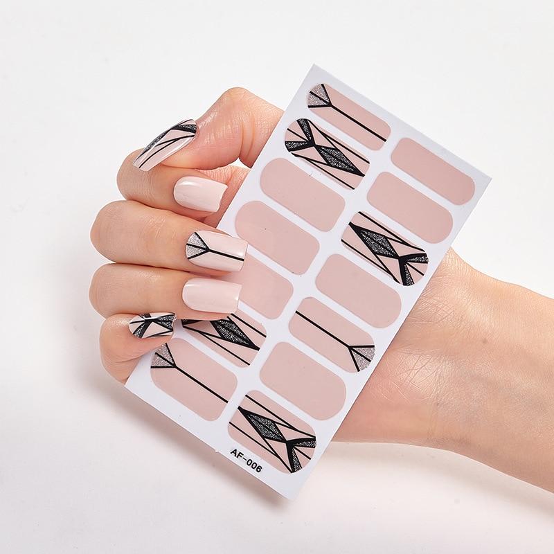 Купить однотонные и креативные наклейки для дизайна ногтей простые