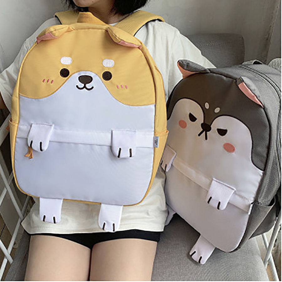 Cute Cartoon Shiba Inu Backpacks Women Pet Husky Dog Schoolbag For Teenage Girls Bookbags Oxford Student Women Travel Backpacks