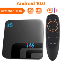 HONGTOP H6 TV Box H616 Smart TV Box Android 10 4GB 32GB 64GB 6K HD Youtube lecteur multimédia Netflix TV 2.4G & 5G WIFI décodeur(China)
