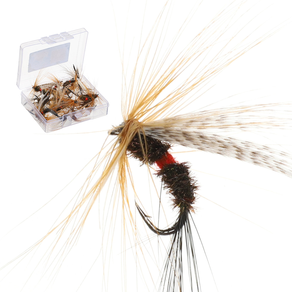 DONQL 10/20/50pcs Insects Flies Fly Fishing Lures Dragonfly Topwater Bait Dry Flies Trout Artificial Crank Hook Insects Lure