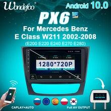 안드로이드 올인원 2 din 안드로이드 10 자동차 라디오 스크린 PX6 메르세데스 벤츠 E 클래스 W211 CLK W209 CLS W219 G 클래스 W463 멀티미디어 오토라디오 스테레오