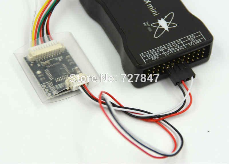 Mini Control de vuelo Pixhawk 32bit Pixhawk2.4.6 con tarjeta SD/interruptor de seguridad/Zumbador/RGB/PPM/ i2C/PM/7N GPS/OSD/433 de telemetría