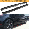 Боковые юбки для автомобиля из углеродного волокна  фартуки  комплекты для Volkswagen VW Golf 6 VI MK6 GTI 2010-2013  черные  PP  боковые юбки для дверей автомоб...