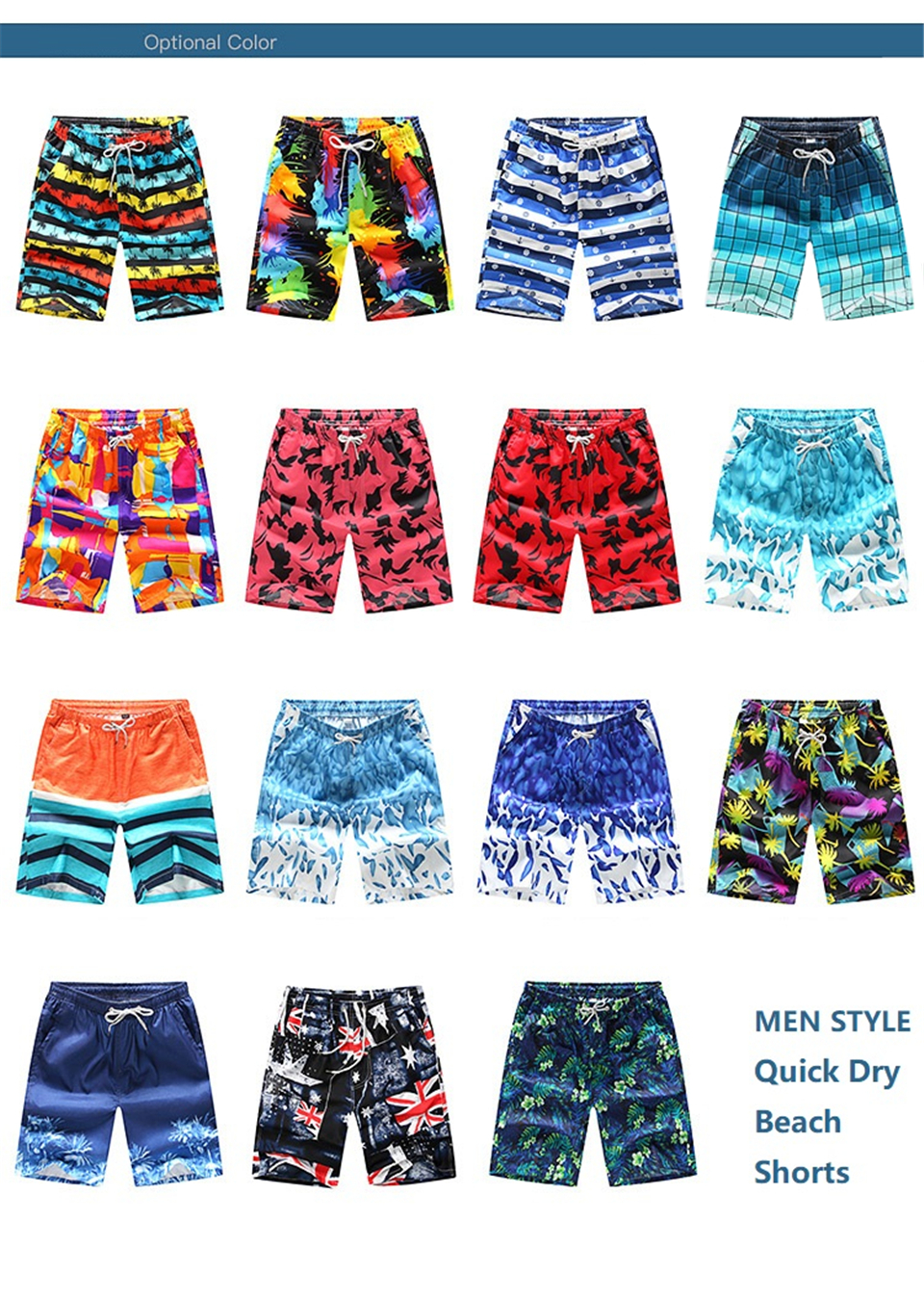 Beach Shorts Men Trunk Summer Short Pants Print Breathable Quick Dry Swim Shorts M-4XL Plus Size Mens Shorts Summer Swim Trunks