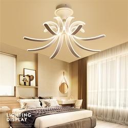 Postmodernistyczna oświetlenie sufitowe Led twórczej sztuki salon jadalnia badanie sypialnia wisząca lampa sufitowa proste oprawa domu z pilotem w Oświetlenie sufitowe od Lampy i oświetlenie na