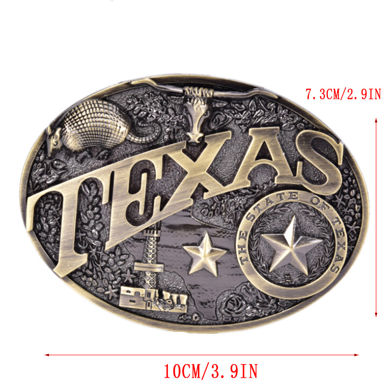Texas Long Bull Horn Belt Buckle Western Cowboy & Cowgirl Novelty Belt Buckles Fashion Buckle