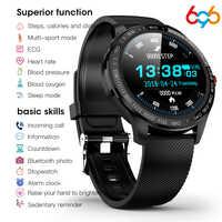696 L9 Full touch Smart Uomini Della Vigilanza ECG + PPG Frequenza Cardiaca Misuratore di Pressione Sanguigna Monitor di ossigeno IP68 Impermeabile Bluetooth Intelligente braccialetto