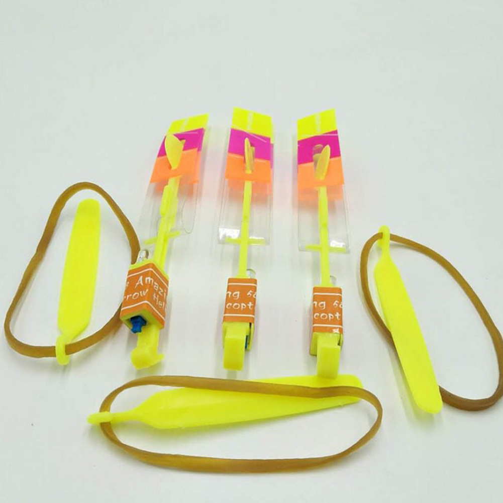 50PCS Light Up Glitter LED Flare Night Flyer Random Color Gifts Play Arrow Adults Funny Kids Toy Flash Copter Outdoor