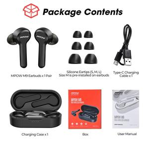 Image 5 - Upgraded Mpow M9 TWS Earbuds True Wireless Bluetooth 5.0 Headphone IPX7 Waterproof Earphone with Charging Case For iPhone 11 XS