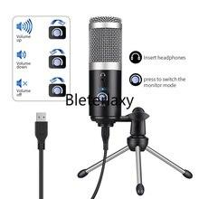 Mikrofon pojemnościowy usb mikrofon komputerowy do Youtube Podcast Instrument nagrywający odtwarzaj mikrofon głosowy na żywo