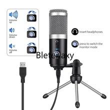 USB คอนเดนเซอร์ไมโครโฟนไมโครโฟนคอมพิวเตอร์สำหรับ YouTube Podcast RECORDING เครื่องมือ Play Live Voice Chat ไมโครโฟน