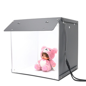"Image 1 - SANOTO 16"" x 16"" Photography Table Top Light Box 102pcs LED Lights Dimmable Portable Foldable Photo Studio Shooting Tent Softbox"