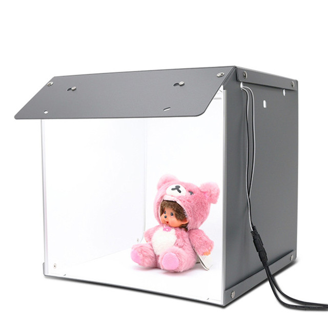 "SANOTO 16"" x 16"" Photography Table Top Light Box 102pcs LED Lights Dimmable Portable Foldable Photo Studio Shooting Tent Softbox"