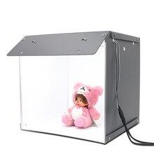 """SANOTO 16 """"x 16"""" fotografia blat podświetlana tablica 102 sztuk LED Lights możliwość przyciemniania przenośny składany mini Studio fotograficzne namiot Softbox"""